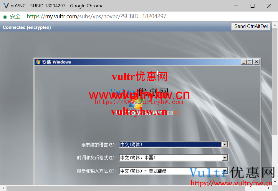Vultr安装Windows系统