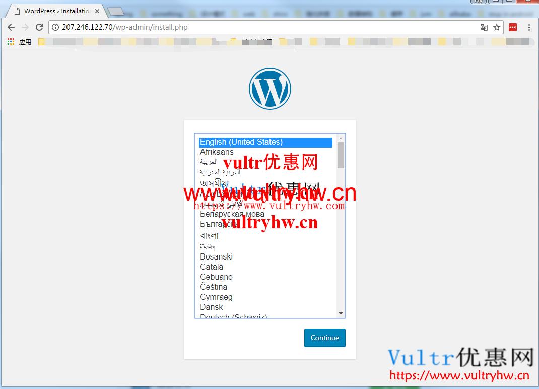 vultr安装wordpress