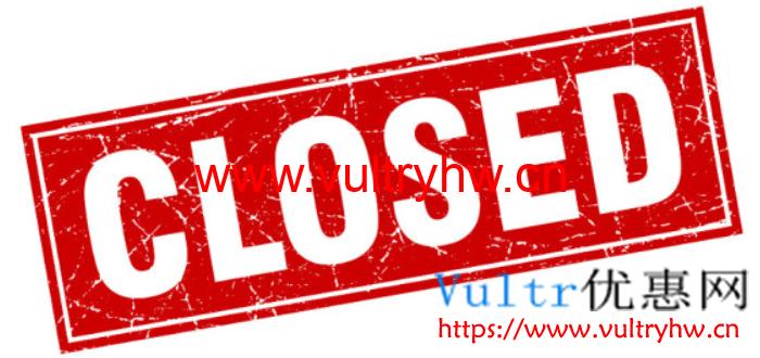 Vultr账号被关闭
